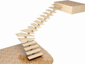 Лестницы на монокосоурах из дерева на заказ