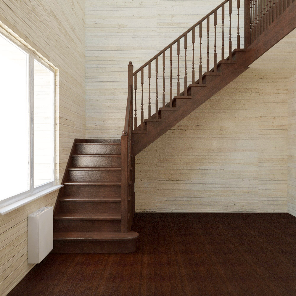 Преимущества лестницы с поворотом через площадку