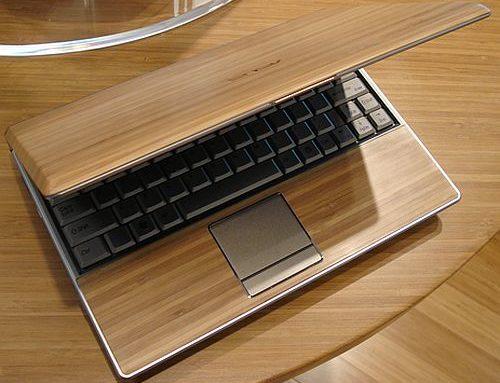 Необычный ноутбук из дерева Asus Bamboo